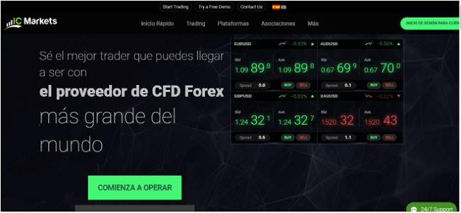 sitio web del broker ICMarkets